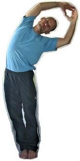 Seitbeuge-Übung gegen Schmerzen unterer Rücken rechts